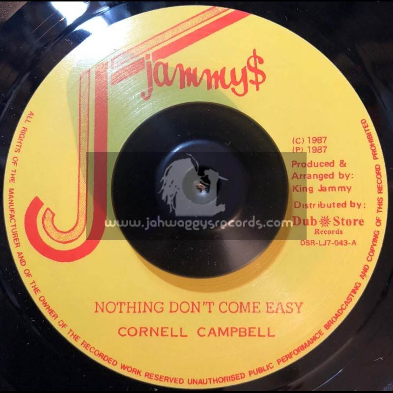 "Jammys Records-7""-Nothing Dont Come Easy / Cornell Campbell"