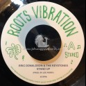 """Roots Vibration Records-7""""-Stand Up / Eric Donaldson And The Keystones + Dub Fa Yu Right / Upsetters"""