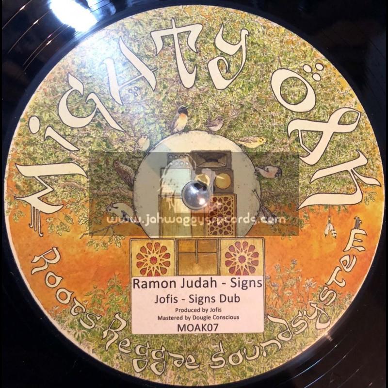 """Mighty Oak Records-12""""-Signs / Ramon Judah + Warning Signs / Makating Horns """