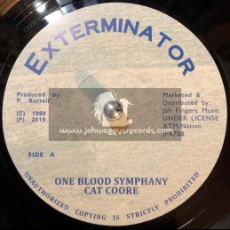 """Exterminator-Jah Fingers-7""""-One Blood Symphany / Cat Coore"""