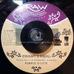 "Raw Creation Records-7""-Chant & Heal / Purple D lyte + Dub & Heal / Afrikan Bump Meets Lone Ark"