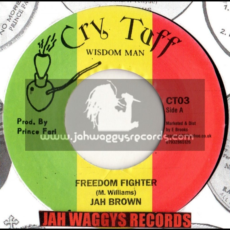 """CRY TUFF-7""""-FREEDOM FIGHTER / JAH BROWN"""