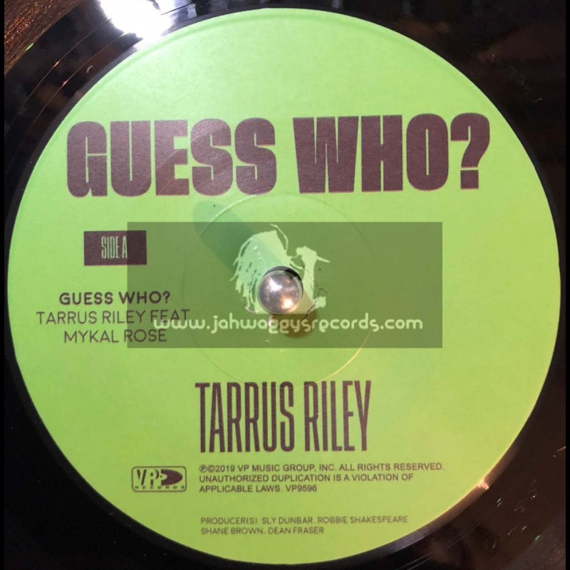 """Vp Records-7""""-Guess Who / Tarrus Riley Feat. Mykal Rose"""