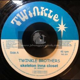 "TWINKLE BROTHERS-7""-SKELETON INNA CLOSET / TWINKLE BROTHERS"