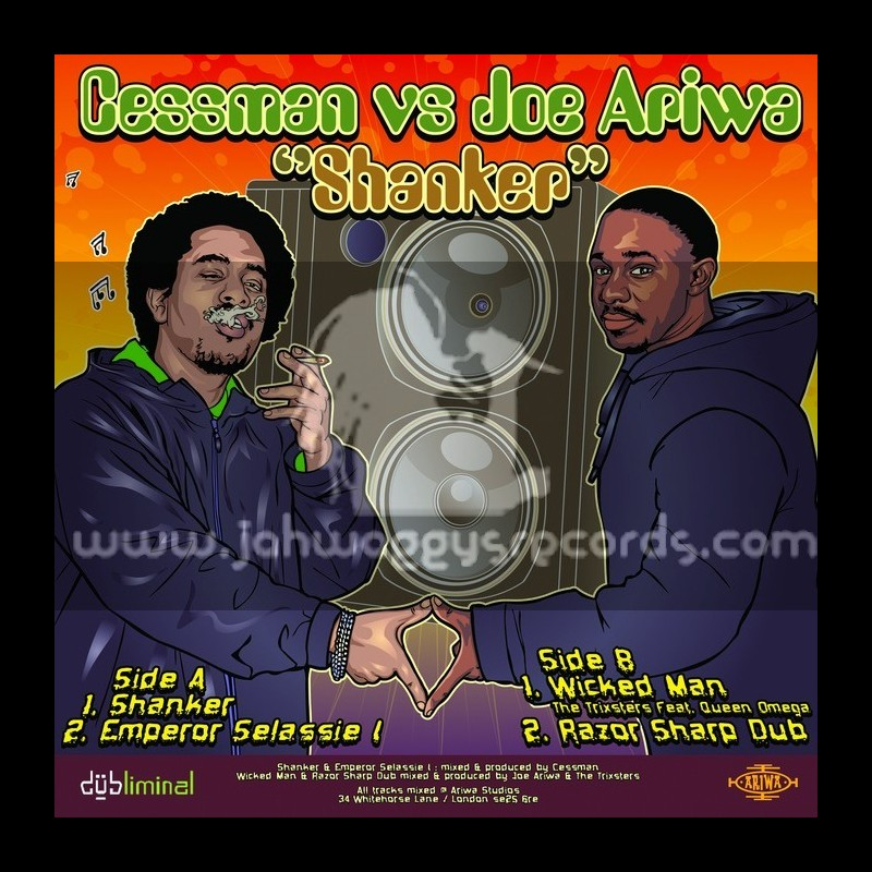 """JOE ARIWA VS SHANKER-12""""-WICKED MAN/QUEEN OMEGA+SHANKER/CESSMAN"""