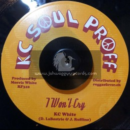 "KC Soul Proff-7""-I Won't Cry / KC White"