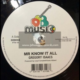 """D.E.B. Music-12""""-Mr Know It All / Gregory Issacs +  War Of The Stars - Ossie Hibbert And The Revolutionaries"""
