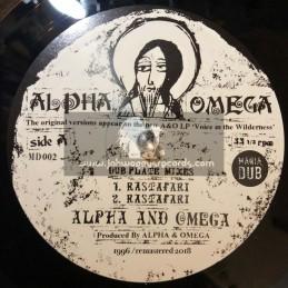 "Mania Dub-10""-Rastafari-Dubplate Mixes / Alpha And Omega + Words Of Thy Mouth-Dubplate Mixes / Alpha And Omega"