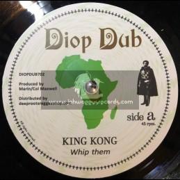 "Diop Dub-7""-Whip Them / King Kong + Whip Dub / Simon Nyabin Meets Dougie Conscious"