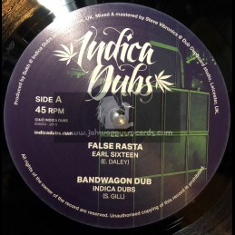 "Indica Dubs-10""-False Rasta / Earl Sixteen + Fret Not / Culture Freeman"