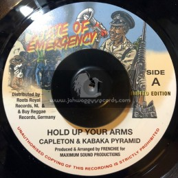 "State Of Emergency - Maximum Sound-7""-Hold Up Your Arms / Capleton & Kabaka Pyramid"