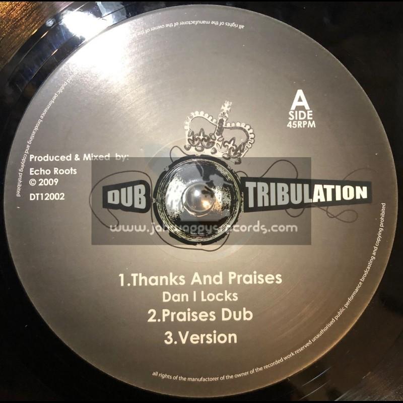 "DUB TRIBULATION 12""-THANKS & PRAISES/DAN I LOCKS + STRENGHT & POWER/ECHO ROOTS"