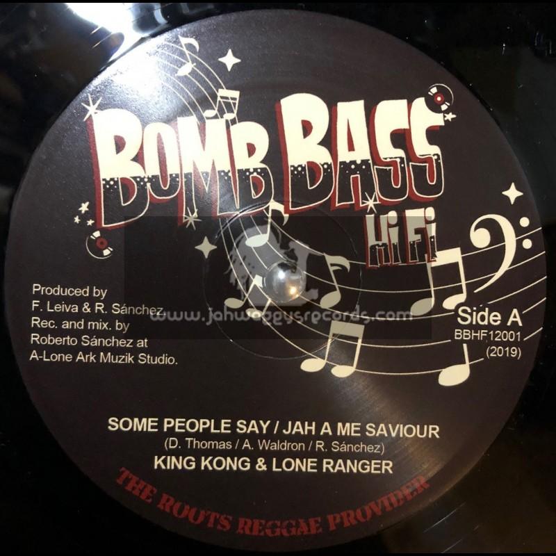 """Bomb Bass Hi Fi-12""""-Some People Say / King Kong + Jah A Me Saviour / Lone Ranger"""