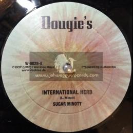 """Dougies-Wackies Music-10""""-International Herb / Sugar Minott + International Dub / Wackie Passie"""