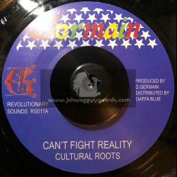 """Germain Disco 45-7""""-Cant Fight Reality / Cultural Roots"""
