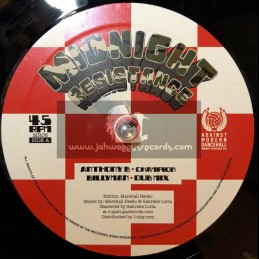 "Midnight Resistance-12""-Champion / Anthony B + Mr Landlord / Tonto Addi"