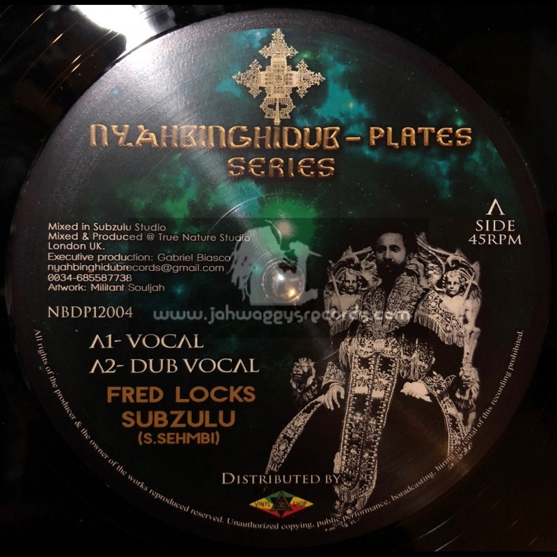 "Nyahbinghi Dub-Plates Series-12""-In My Heart / Fred Locks & Subzulu"