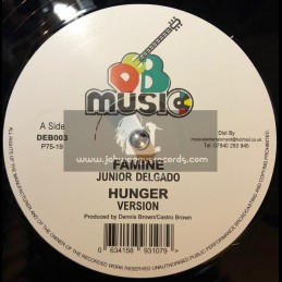 "D.E.B. Music-12""-Famine / Junior Delgado + Armed Robbery / Junior Delgado"