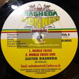 """SIS RASHEDA LIONESS MUSIC-12""""-WORLD CRISIS + EARTHQUAKE / SISTER RASHADA"""