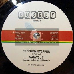 "Dubkey Records-7""-Freedom Stepper / Manwel T"