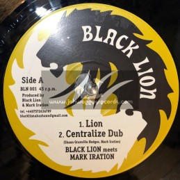"Black Lion-12""-(Test Press)-Lion + Zulu Warriah / Mark Iration Meets Black Lion"