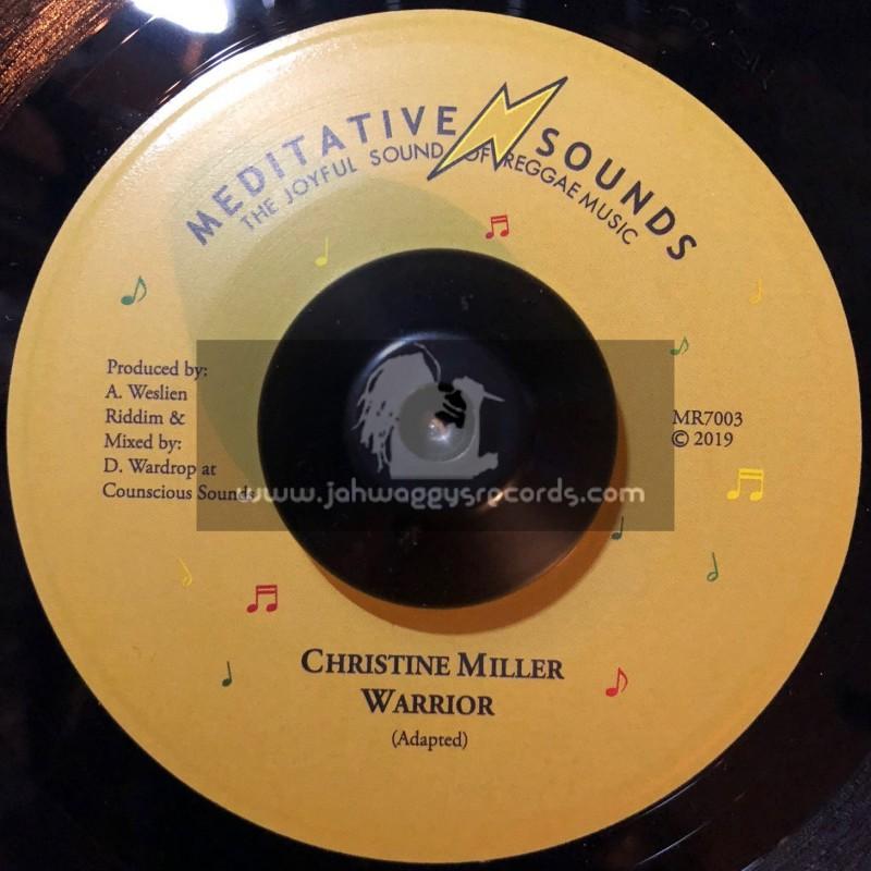 """Meditative Sounds-7""""-Warrior / Christine Miller"""