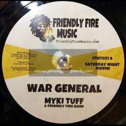 """Friendly Fire Music-7""""-War General / Myki Tuff + Mini Bus Man / Tippa Irie"""