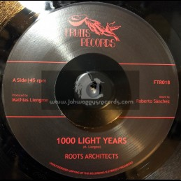 """Fruits Records-7""""-1000 Light Years / Roots Architects"""
