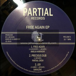 "Partial Records-12""-Free Again Ep / Amelia Harmony, Jah Marnyah, Saralene & Partial Crew"
