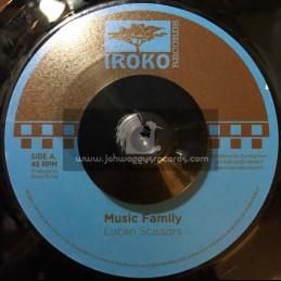 "Iroko Records-7""-Music Family / Lucan Scissors"