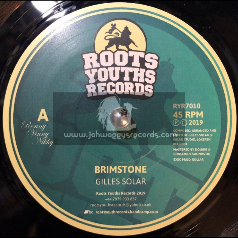 """Roots Youths Records-7""""-Brimstone / Gilles Solar"""