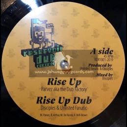 """Reservoir Dub Records-10""""-Rise Up / Parvez - Unlisted Fanatic & Disciples"""