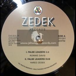 "Zedek Records-12""-False Leaders / Ronnie Davis + Traveling / Maxim Butler"