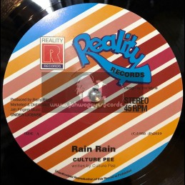 "Reality Records-Jah Fingers-12""-Rain Rain / Culture Pee"