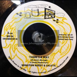 """Room In The Sky-7""""-Theres A Way / Winston Reedy & Salute + Declaration Of Dub / Vin Gordan & Salute"""