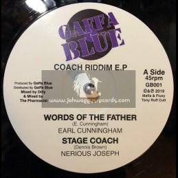 """Gaffa Blue-12""""-Words Of The Father / Earl Cunningham - Coach Riddim EP"""