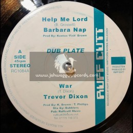 "RUFF CUTT-10""-HELP ME LORD / BARBARA NAP + WAR / TREVOR DIXON + WHO THE CAP FIT / GOVERNOR TIGGY"