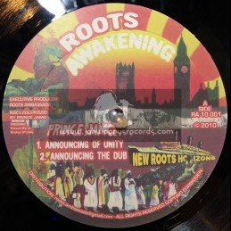 "Roots Awakening-10""-Announcing Of Unity / Prince Jamo + Hoffin Inventor / Prince Jamo"