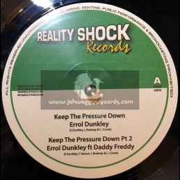 "Reality Shock Records-10""-Keep The Pressure Down / Errol Dunkley + First World Problem / Solo Banton"