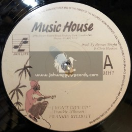 "Music House-12""-I Wont Give Up / Frankie Wilmott"