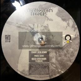 """Unemployment Records-12""""-Chant Dem Down / Prince David + Concrete Castle King / Verdiana"""