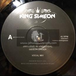 "King simeon-10""-Jah love is universal / Gideon zinger"