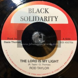 "Black Solidarity-7""-The Lord Is My Light / Rod Taylor"