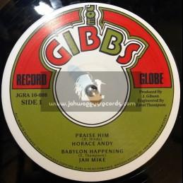 "Joe Gibbs-10""-Praise HIM / Horace Andy + Babylon Happening / Jah Mike"
