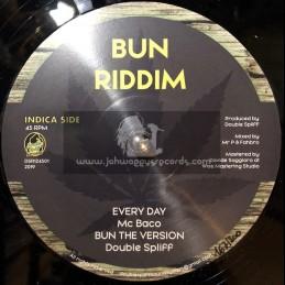 """Bun Riddim-12""""-Everyday / Mc Baco + Bun The Herb /  Mannaroman"""