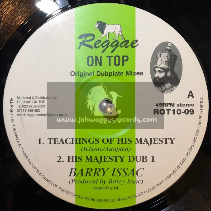 """Reggae On Top-10""""-Teachings Of His Majesty / Barry Issac"""