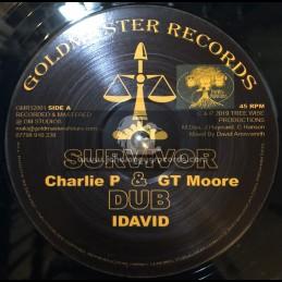 "Goldmaster Records-12""-Survivor / Charlie P , GT Moore & I David + Dedication To I Self / Alpha B & I David"