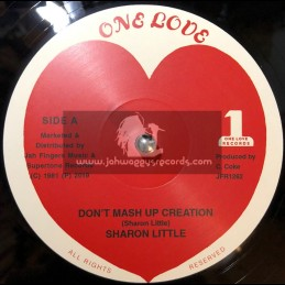 """One Love Records-Jah Fingers-12""""-Don't Mash Up Creation / Sharon Little"""