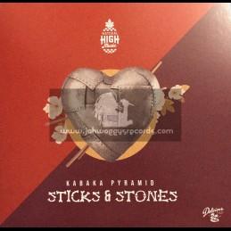 "Natural High Music-Delicious Vinyl Island-7""-Stick & Stones / Kabaka Pyramid"