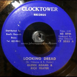 "Clock Tower Records-7""-Looking Dread / Glenn Adams & Rick Frater"